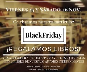 """La libreria LibrUp, con motivo del BlackFriday, obsequiará a sus clientes con un ejemplar de mim libro de poesías """" Experiencias imaginadas"""". Estáis todos invitados."""