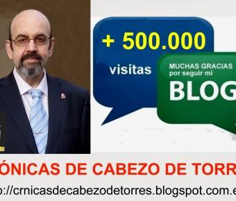"""EL BLOG """"CRÓNICAS DE CABEZO DE TORRES"""" YA HA SUPERADO EL MEDIO MILLÓN DE VISITAS"""