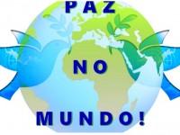 PAZ mundial não – caminhando e cantando
