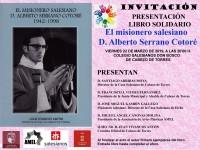 """PRESENTACIÓN DE LIBRO SOLIDARIO """"EL MISIONERO SALESIANO D. ALBERTO SERRANO COTORÉ (1942-1998)"""""""